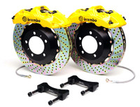 Brembo GT Yellow Drilled Front Big Brake Kit 380x32mm - 08-15 Mitsubishi Evolution X
