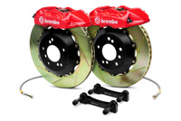 Brembo GT Red Slotted Front Big Brake Kit 350x34mm - 08-15 Mitsubishi Evolution X