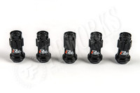 KICS Project R40 Iconix Lug Nuts - Black & Black - Plastic Cap