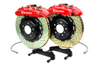 Brembo GT Red Drilled Big Brake Kit 345x28mm - 08-15 Mitsubishi Evolution X 4B11