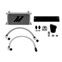 Mishimoto Silver Thermostatic Oil Cooler Kit - 10-12 Hyundai Genesis Coupe 3.8L