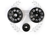 TF Lightweight Aluminum Pulley Kit Honda S2000 AP1 AP2 BLACK F20C F22C