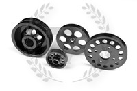 TF Lightweight Aluminum Pulley Kit Nissan 300ZX Z32 VG30 - Black