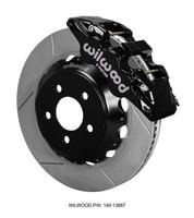 Wilwood 6-Piston AERO6 Big Brake Kit w/Slotted Rotors - 2015 Mustang GT Front (Black Calipers)