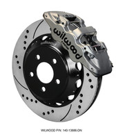 "Wilwood 6-Piston AERO6 Big Brake Kit w/ Nickel Plate Calipers - 2015 Mustang GT Front (14"" Rotors)"