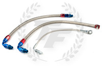 P2M Nissan S13 SR20DET Steel Braided Turbo Line Kit - Bottom Mount