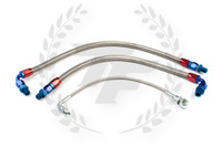 P2M Nissan S14 / S15 SR20DET Steel Braided Turbo Line Kit - Top Mount