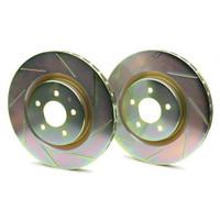 Brembo Sport Slotted Rear Brake Rotors - 02-04 Infiniti G35, 03-09 Nissan 350Z