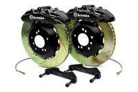 Brembo GT Black Front Slotted 6-Piston Big Brake Kit 355x32mm - 2006 Lexus GS300, 06-13 Lexus IS250