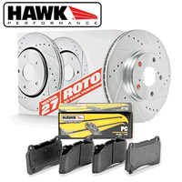 Hawk Performance Front Brake Rotor with PC Pad Kit - 06-13 Lexus IS250