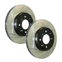 Stoptech Front Right Slotted Brake Rotors - 02-08 Subaru Impreza STI