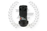 KICS Project R40 Iconix Lug Nuts - Black & Black - Aluminum Cap