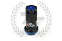KICS Project R40 Iconix Lug Nuts - Black & Blue - Plastic Cap