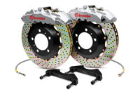 Brembo GT Silver Front Drilled Brake Kit 380x32mm - 07-08 Infiniti G35 / 08-13 G37, 09-16 Nissan 370Z