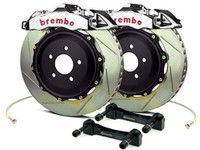 Brembo GT-R Polished Front Slotted Brake Kit 355x32mm - 07-08 Infiniti G35 / 08-13 G37, 09-16 Nissan 370Z