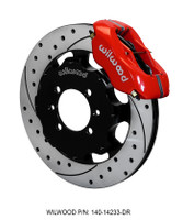 Wilwood Red Dynalite Forged 4 Piston BBK for 2016 ND Miata - Front Drilled Rotor