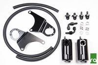 Radium Engineering Dual Catch Can Kit - 03-07 Mitsubishi EVO 8/9