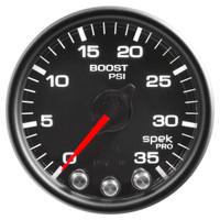 AutoMeter  Spek-Pro Black - Boost/Turbo 52mm