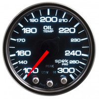 AutoMeter Spek-Pro Smoked - Oil Temp 52mm