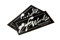 TF-WORKS Brush Decal - BLK/CHROME - 2 Pieces