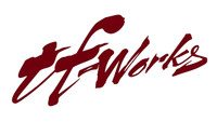 "TF-Works ""Splash"" Small Sticker - Reflective Maroon"