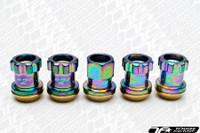 KICS Project R26 Racing Composite Lug Nuts NeoChrome Locking
