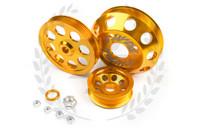 TF Lightweight Aluminum Pulley Kit S13 SR20DET - GOLD