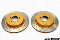 DBA 4000 XS Cross Drilled Slotted Brake Rotors - Evo X Front