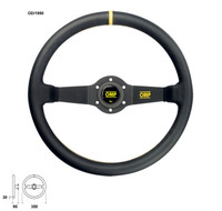 OMP Rally 350mm Dished Steering Wheel Suede Leather