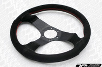 Personal Fitti Corsa Steering Wheel 350mm Black Suede Leather