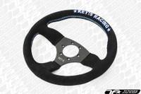KEY'S RACING Semi-Deep Semicone Type Steering Wheel (325mm/Suede)