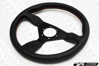 Personal Neo Grinta Steering Wheel 350mm Black Leather with Red Stitching
