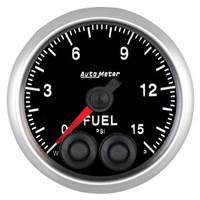 Auto Meter Elite Fuel Pressure Gauge 52mm 0-15 PSI