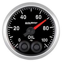 Auto Meter Elite Oil Pressure Gauge 52mm 0-100 PSI
