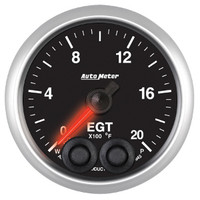 Auto Meter Elite Exhaust Gas Temperature EGT Gauge 52mm 0 - 2000ºF