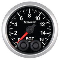 Auto Meter Elite Exhaust Gas Temperature EGT Gauge 52mm 0 - 1600ºF
