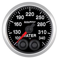 Auto Meter Elite Water Temperature Gauge 52mm 100-340ºF