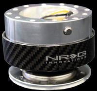 NRG Gen 1.0 Quick Release- Silver Body/ Carbon Fiber Ring