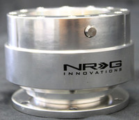 NRG Gen 1.0 Quick Release- Silver Body/ Matte Silver Ring