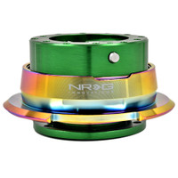 NRG Quick Kit Release Gen 2.8 (Green Body w/ Diamond Cut Neochrome Ring)
