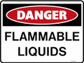 DANGER - FLAMMABLE LIQUIDS