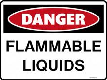 DANGER - FLAMMABLE LIQUIDS