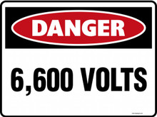 DANGER - 6600 VOLTS