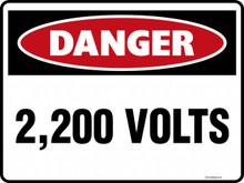 DANGER - 2200 VOLTS