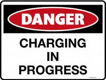 DANGER - CHARGING IN PROGRESS