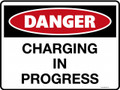 DANGER - CHARGING IN PROGRESS