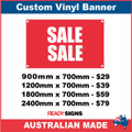 SALE SALE - CUSTOM VINYL BANNER SIGN