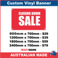 CLOSING DOWN SALE - CUSTOM VINYL BANNER SIGN