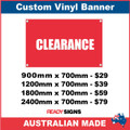 CLEARANCE - CUSTOM VINYL BANNER SIGN