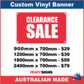 CLEARANCE SALE - CUSTOM VINYL BANNER SIGN